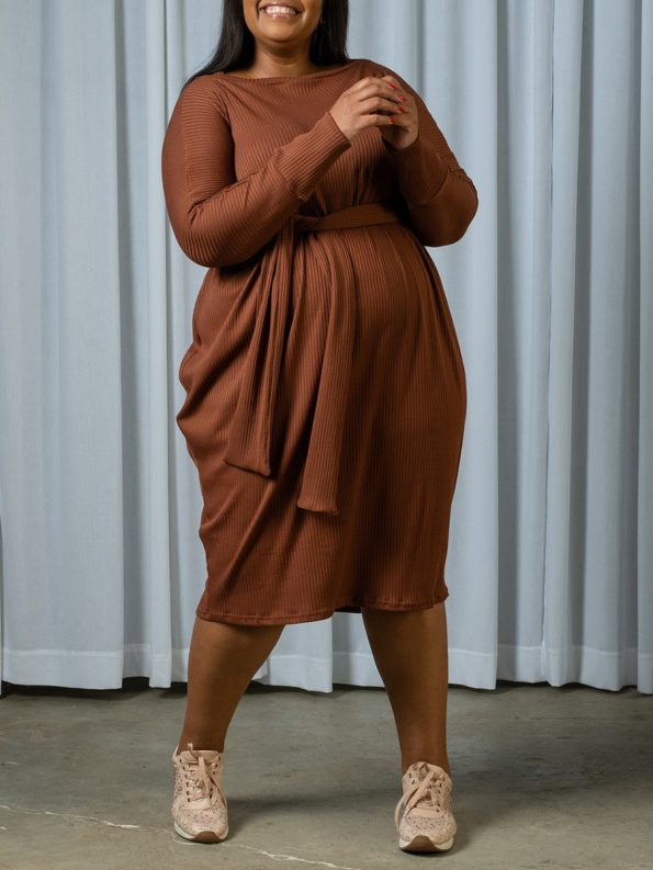 IDV Knit Cocoon Dress Copper 1