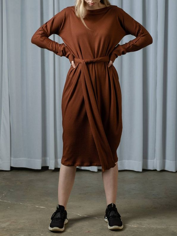 IDV Knit Cocoon Dress Copper 2