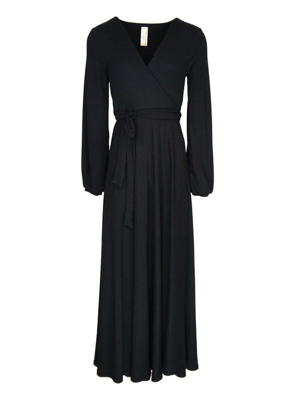 IDV Knit Maxi Dress Black