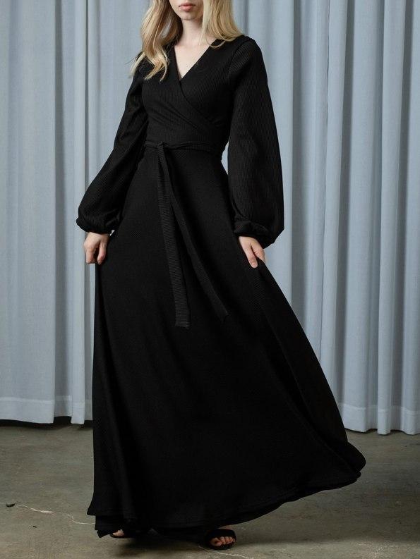 IDV Knit Maxi Wrap Dress 1