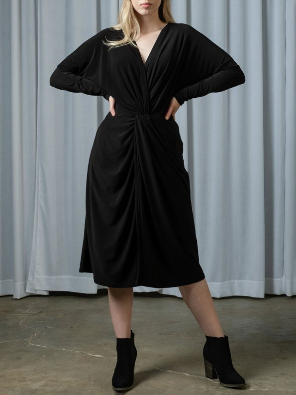 IDV Twist Dress Black 1
