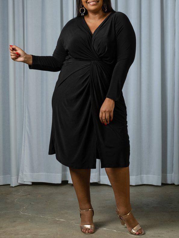 IDV Twist Dress Black 2