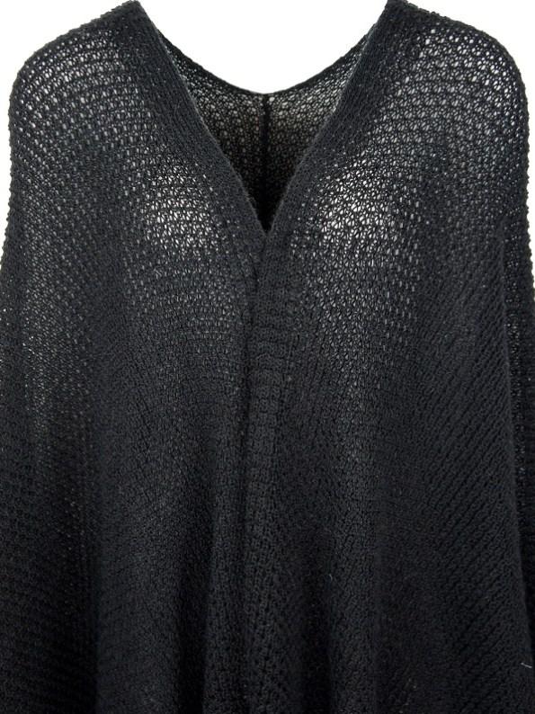 IdV Raw Collection Mohair Shawl Black Detail
