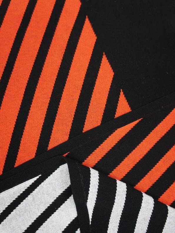 Romaria Striped Scarf Orange and Black Detail 2