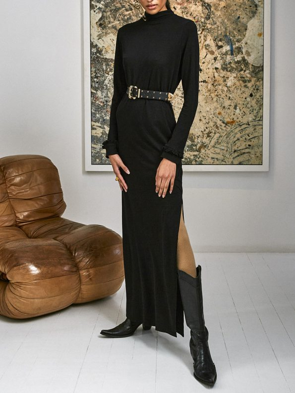 Asha Eleven Marefu Dress Black 4