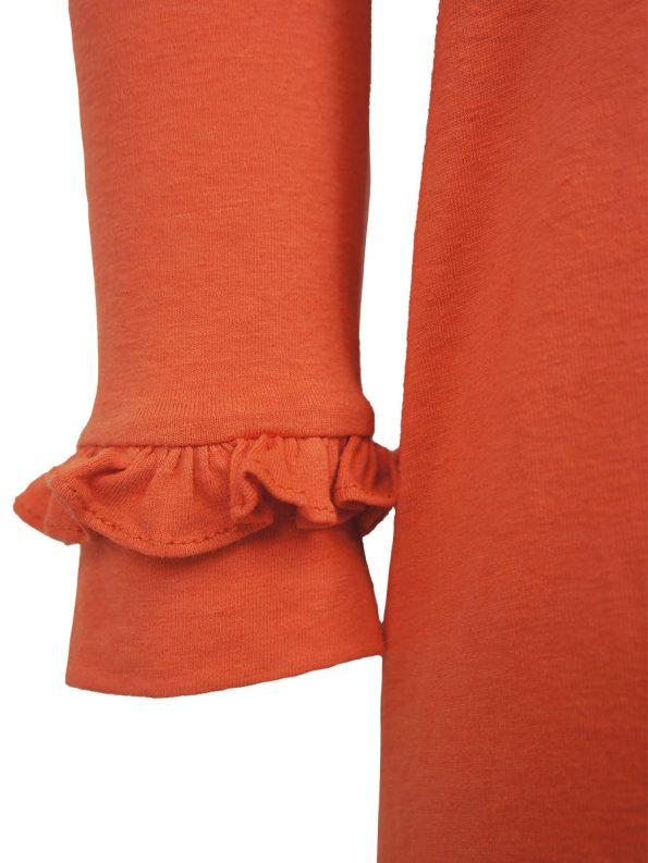 Asha Eleven Marefu Dress Coral Closeup