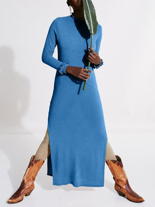 Asha Eleven Marefu Dress Cornflower Blue 1
