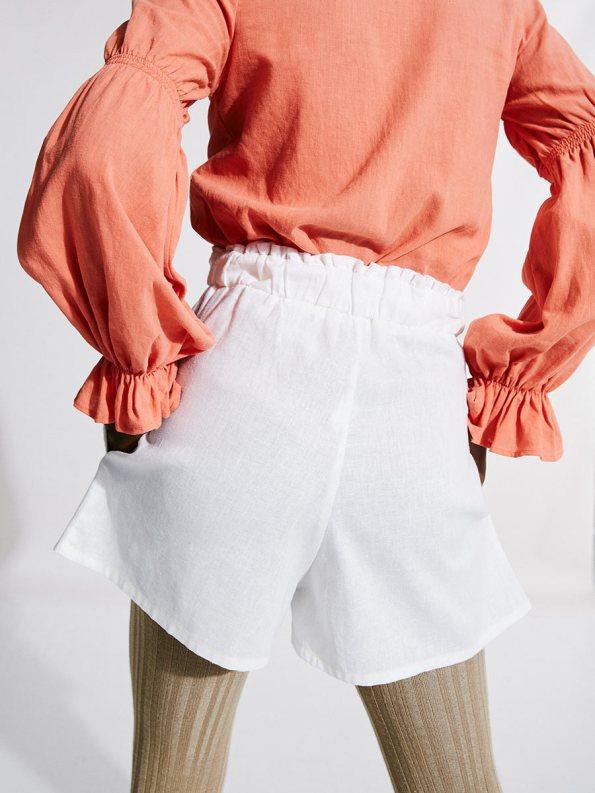 Asha Eleven Outlander Blouse Coral with Salama Shorts 1
