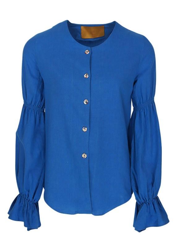 Asha Eleven Outlander Blouse Cornflower Blue _SHPEN100 _BRIG+15