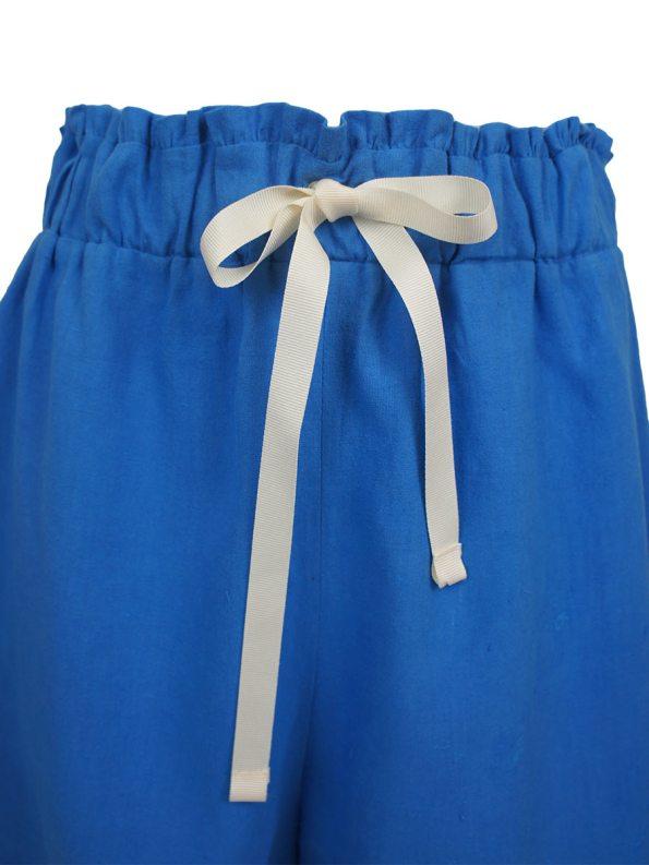 Asha Eleven Salama Shorts Cornflower Blue Detail