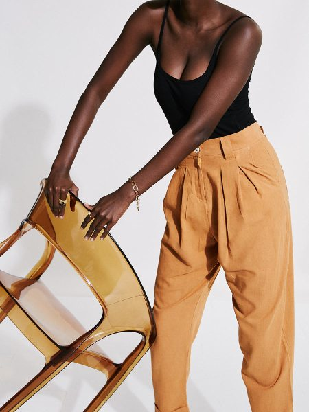 Brown high waisted pants with bodysuit South Africa