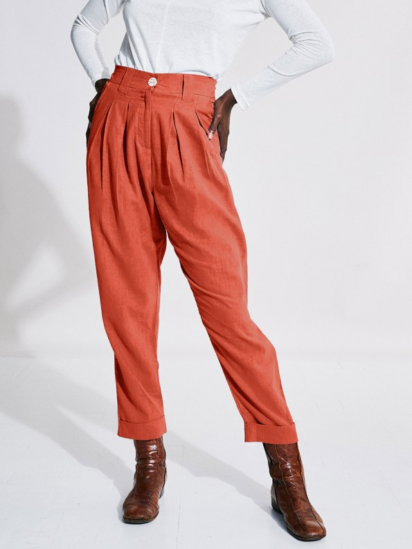 Asha Eleven Tembea Trousers Coral Front