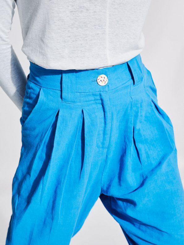 Asha Eleven Tembea Trousers Cornflower Blue Detail