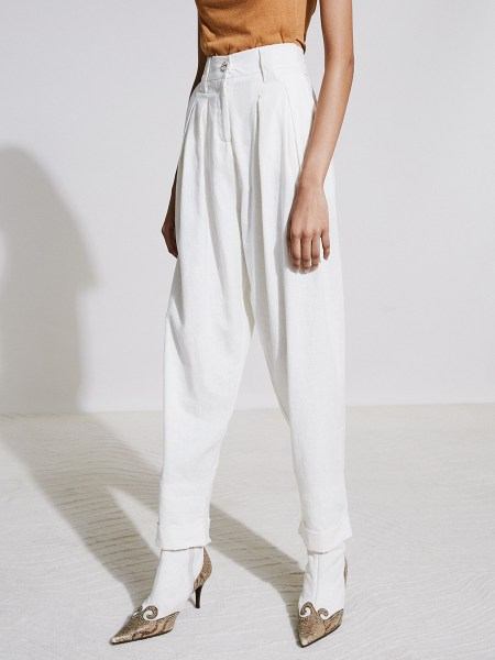 White pleated pants for women South Africa