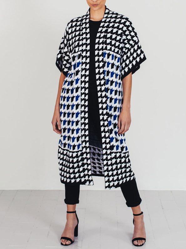 Romaria Knitted Kimono Cobalt Blue 3
