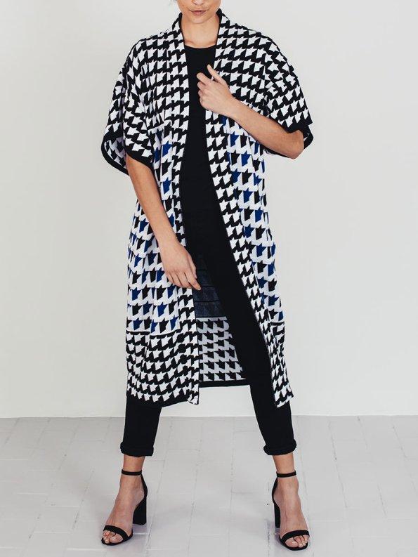 Romaria Knitted Kimono Cobalt Blue 4