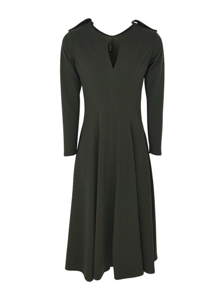 long sleeve olive green dress
