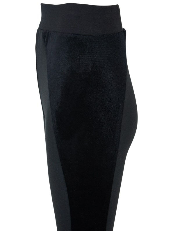 Erre Velvet Panel Leggings Detail