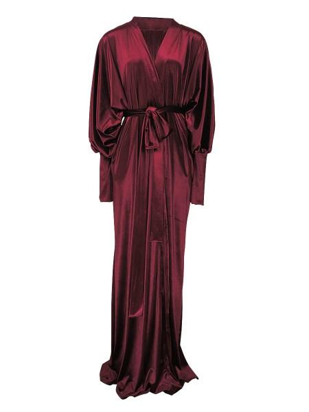 burgundy red velvet robe South Africa