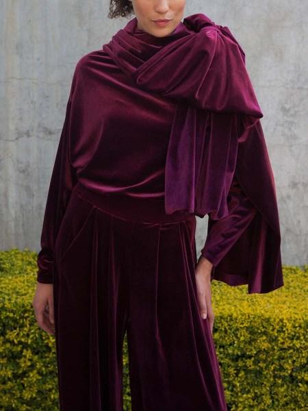 velvet scarf burgundy South Africa