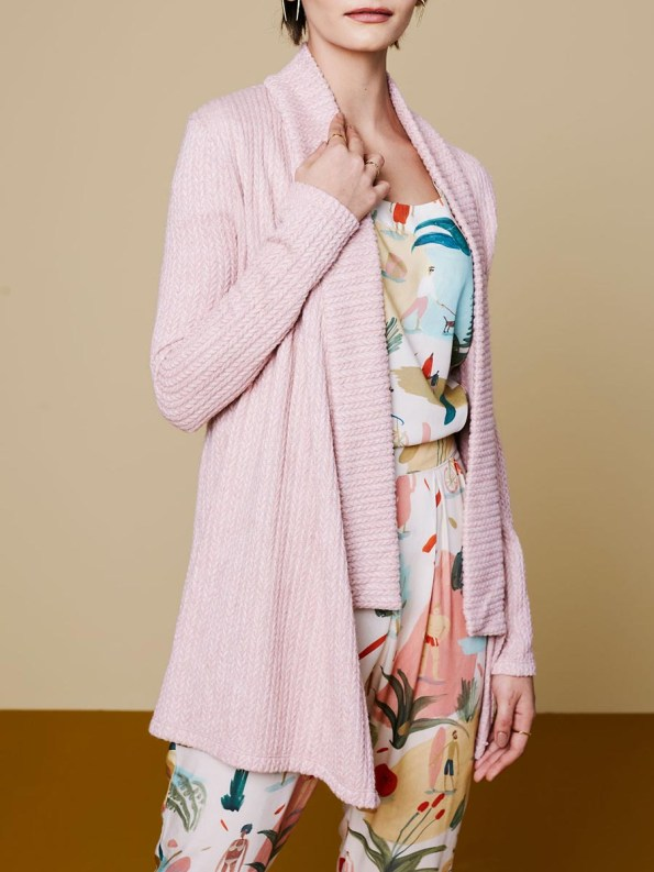 Good Cardigan Pink Cable 1