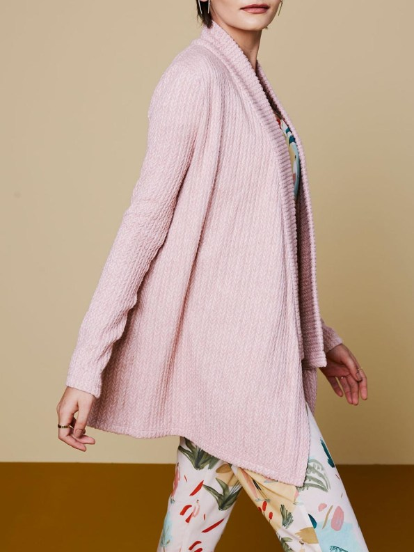 Good Cardigan Pink Cable 3