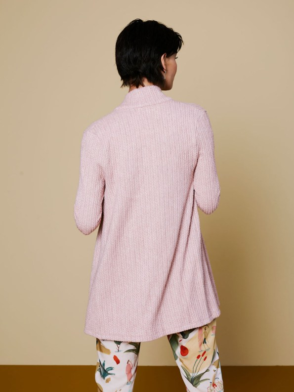Good Cardigan Pink Cable 4