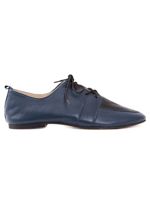 HoC Claudia Brogues Navy and Black Side