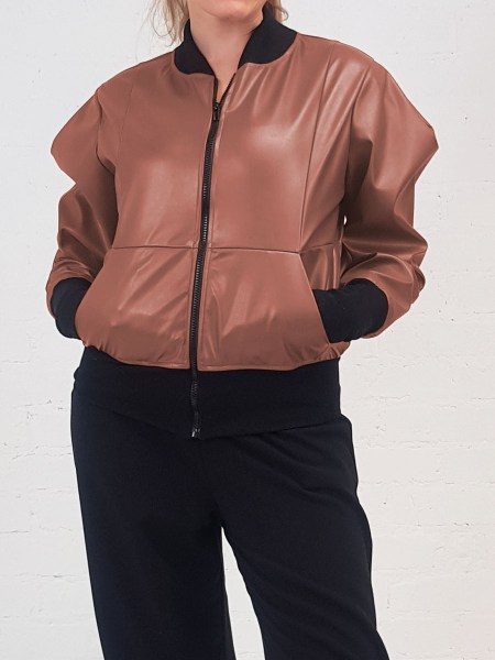 Brown leather bomber jacket women's South Africa