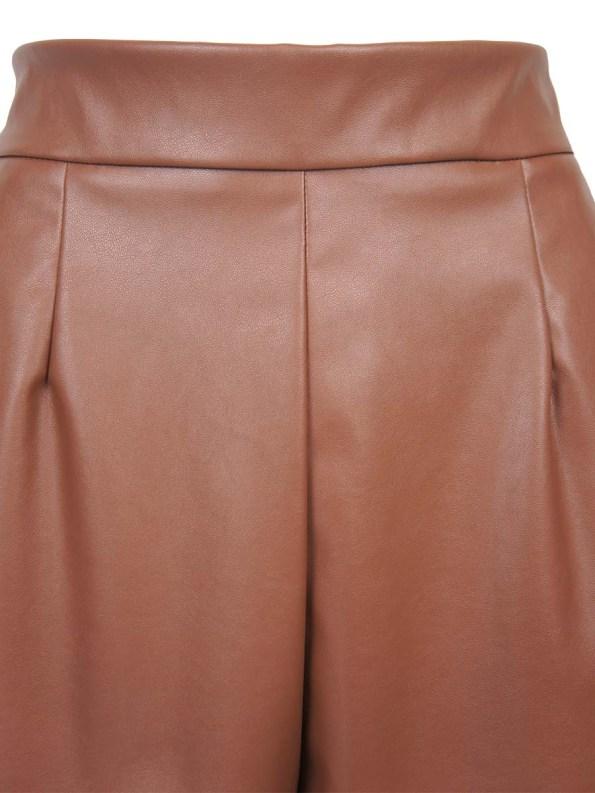 JMVB Faux Leather Shorts Detail