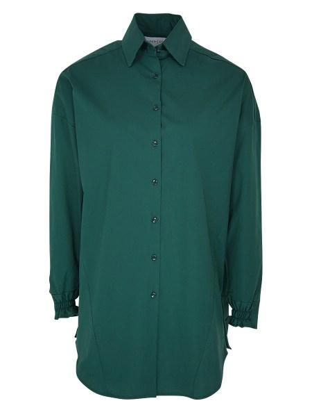 Green cotton shirt women's