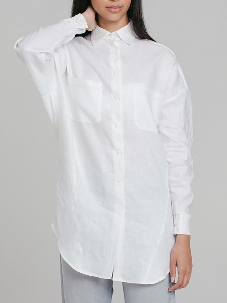 white linen shirt with buttons