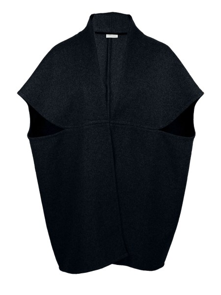 Navy Wool cocoon coat jacket made in South Africa