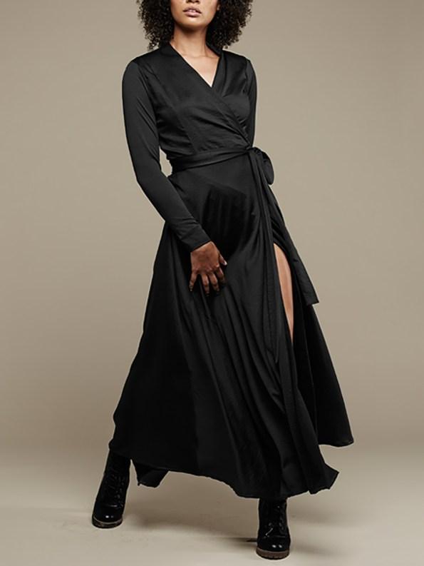 Mareth Colleen Jo Wrap Dress Black 2