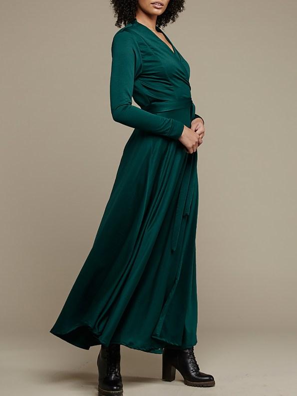Mareth Colleen Jo Wrap Dress Green 1
