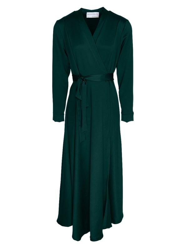 Mareth Colleen Jo Wrap Dress Green _shpen100