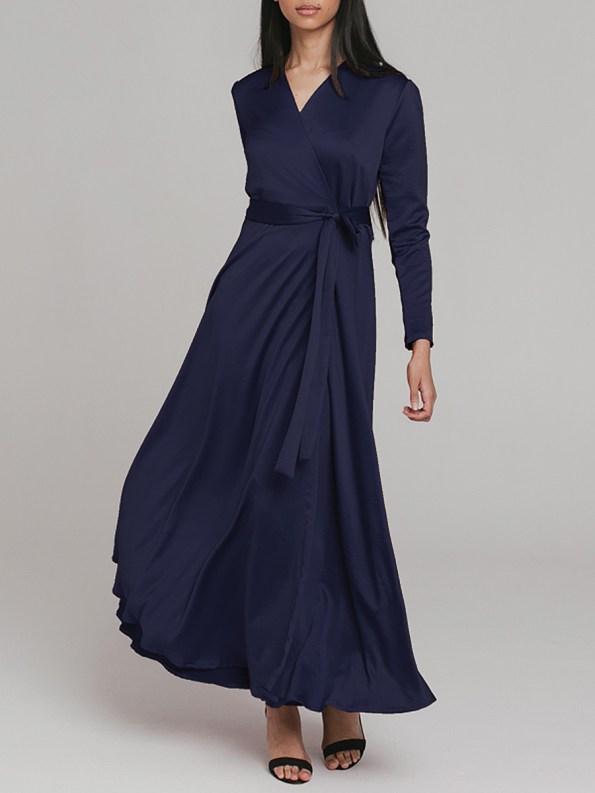 Mareth Colleen Meg Wrap Dress Navy 3