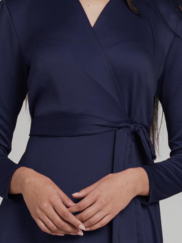 Mareth Colleen Meg Wrap Dress Navy 5