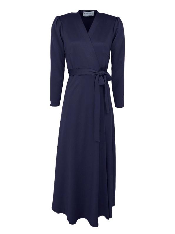 Mareth Colleen Meg Wrap Dress Navy