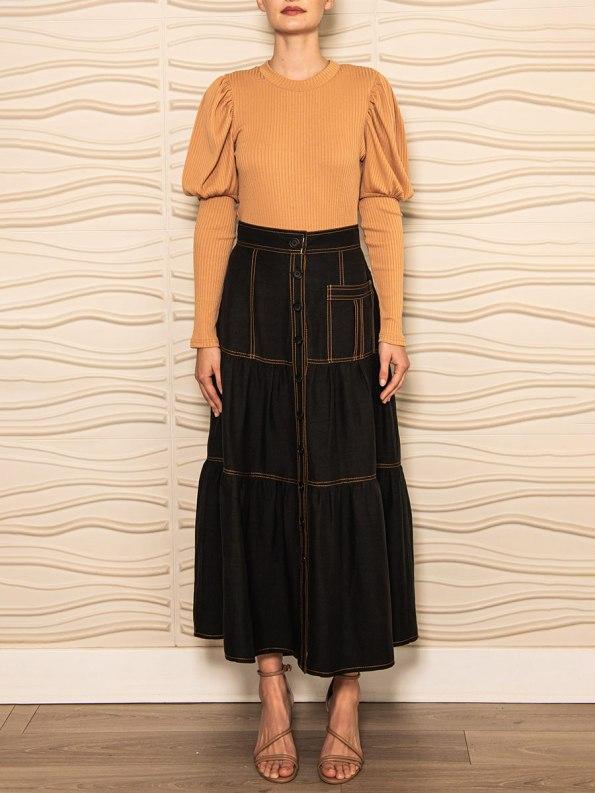 Smudj Demma Tiered Skirt Black 1