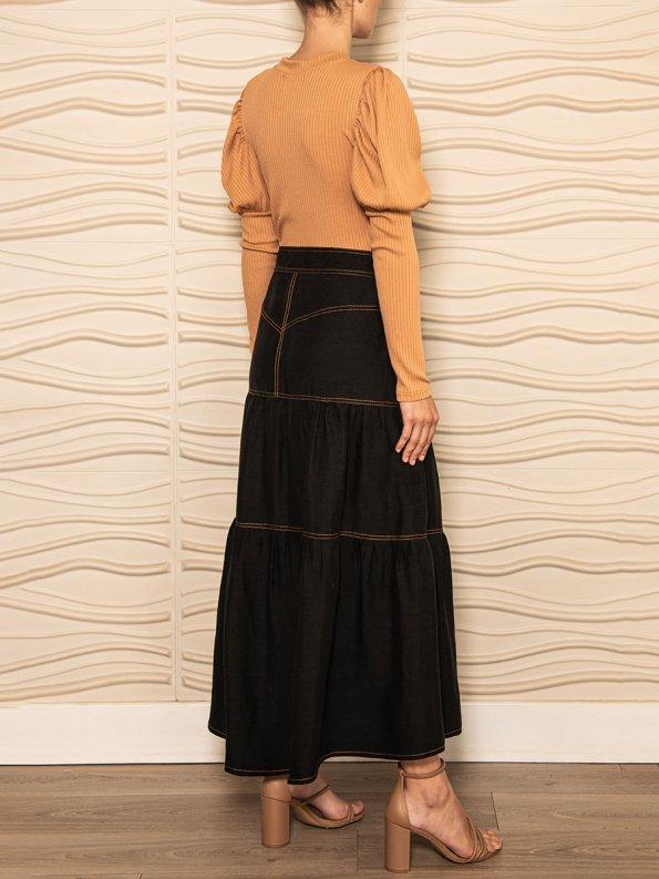 Smudj Demma Tiered Skirt Black 2