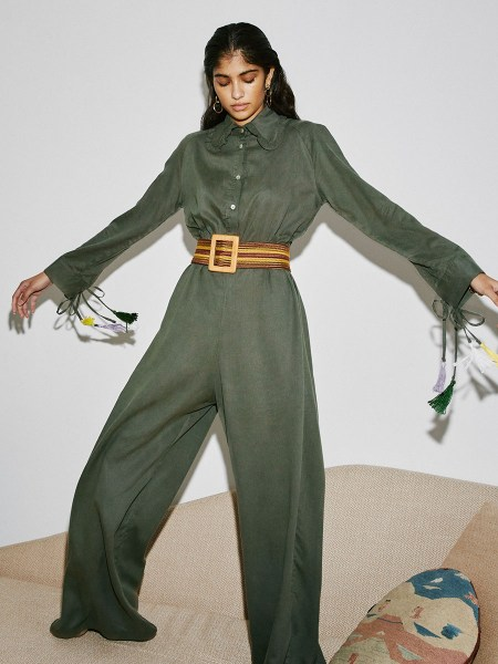 green long sleeve jumpsuit South Africa