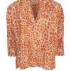 Orange floral ladies shirt
