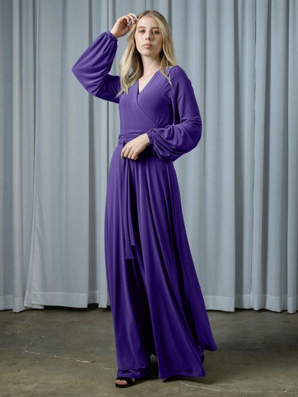 Isabel de Villiers Maxi Wrap Dress Purple 1