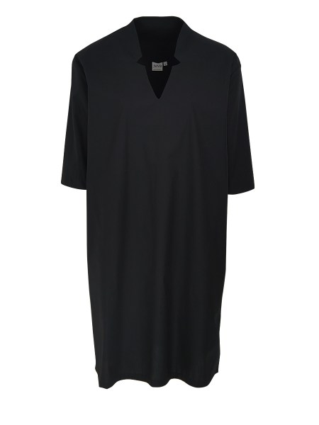 black cotton tunic dress