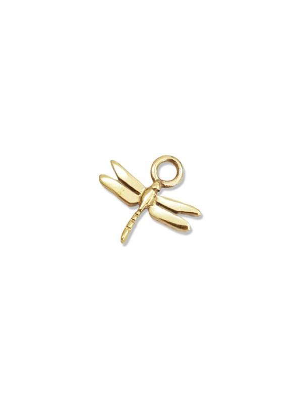 Kirsten Goss Dragonfly Huggie Charm Gold