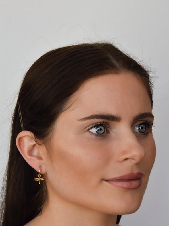 Kirsten Goss Dragonfly Huggies Gold Model