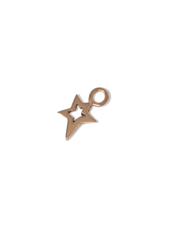 Kirsten Goss Lucky Star Charm Rose Gold
