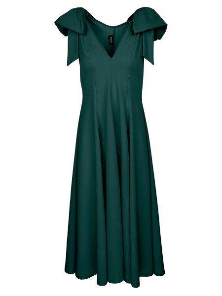 green dress with slits