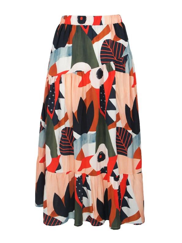 Good Bask Skirt Tropical Collage